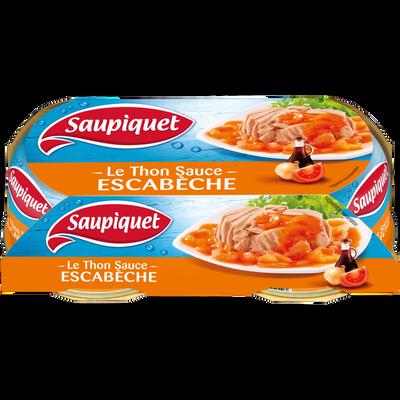 Thon sauce à l'escabèche SAUPIQUET, 2 boîtes de 135g