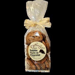 Sablés aux pépites de chocolat LES DOUCEURS CHATTOISES, sachet de 250g