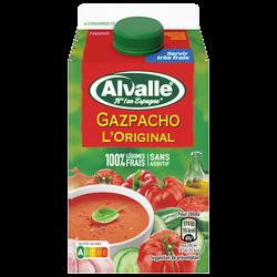 Soupe froide méditerranéenne de légumes frais ALVALLE, brique de 50cl