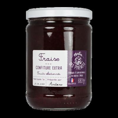 Confiture extra de fraise MATIN DES PYRENNES, 680g