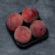Pêche blanche, BIO, calibre B, catégorie 2, France, barquette 4 fruits