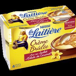 Préparation pour crème brûlée avec sachet de caramel LA LAITIERE, 4x100g