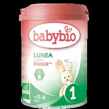 Lait en poudre pour nourrissons lunea 1, BABYBIO, de 0 à 6 mois, 900g