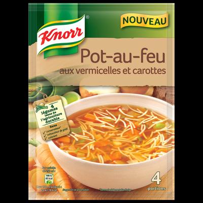 Soupe pot au feu aux vermicelles et carottes KNORR, 55g