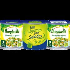 Macédoine de légumes BONDUELLE, 3 boîtes de 390g