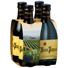 Vin rouge VIEUX PAPES, 12°, 4x25cl
