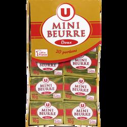 Mini beurre doux U, 82% de MG, paquet de 200g