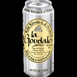 Bière blonde LA GOUDALE, 7.2°, boîte de 50cl