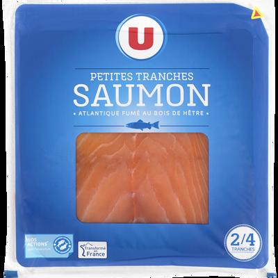 Saumon Atlantique fumé U, 2 à 4 petites tranches, 75g