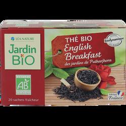 Thé noir english breakfast biodynamique JARDIN BIO 32g