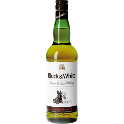 Scotch whisky BLACK AND WHITE, 40°, 70cl