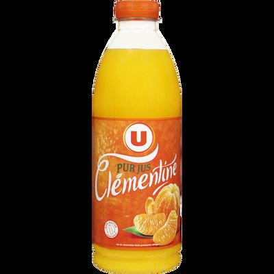 Pur jus de clémentine réfrigéré U, bouteille de 1l