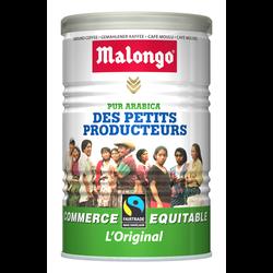 Café moulu Petits producteurs commerce équitable MALONGO, boîte en ferde 250g