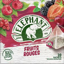 Elephant Infusion Arômatisée Fruits Rouges , 20 Sachets Pyramide De 36g