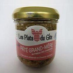 Pâté grand mère au pineau des Charentes sans gluten, 180gr, bocal, Les plats du gîte.