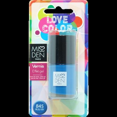 Vernis love color bleu vif, MISS DEN
