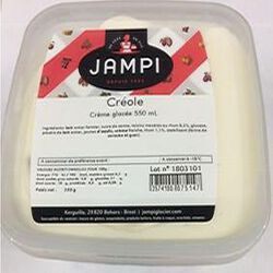 Crème glacée créole, JAMPI, 550 ML