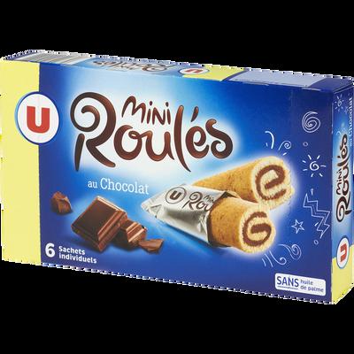 Mini roulé au chocolat U, paquet de 150g