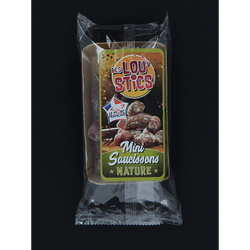 "Mini saucissons nature ""lou'sticks"", barquette de 90g"