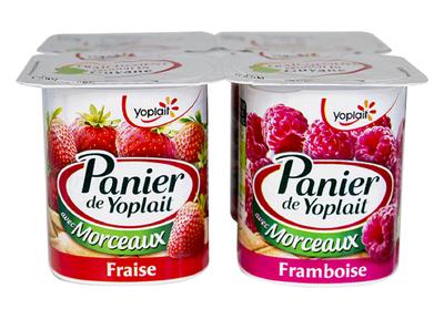 Fraise/Framboise 125g x 4