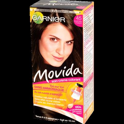 Coloration crème ton sur ton MOVIDA, châtain foncé n°45