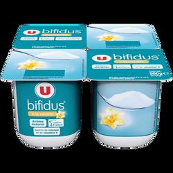 Lait fermenté sucré au bifidus saveur vanille U, 4x125g