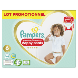 Couches premium protection pants taille 6 +15kg extra large PAMPERS, x64