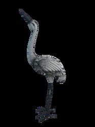 Héron décoratif en métal 40x18x96cm-2 modèles assortis