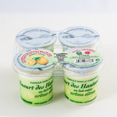 Yaourt au lait entier aromatisé citron EBRARD, 4x12,5Cl