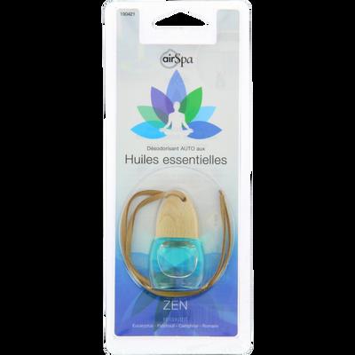 Flacon parfumé zen à suspendre AIR SPA, parfumé aux huilesessentielles d'eucalyptus, patchouli, camphrier et romarin