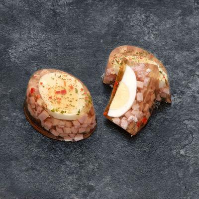 Aspic d'oeuf au jambon, 3x95g 285g