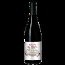 Vin rouge AOC Moulin à Vent Domaine des Graves, bouteille de 75cl