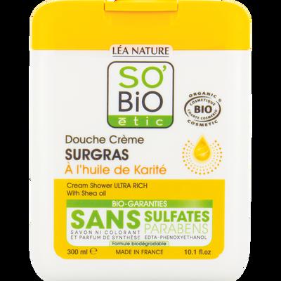 Gel doouche surgras à l'huile de karité Bio LEA NATURE, flacon de 300ml