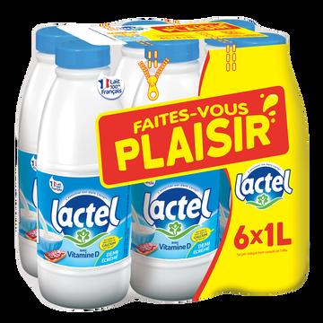 Lactel Lait Demi- Écrémé Uht - Lactel - Bouteille 6x1l