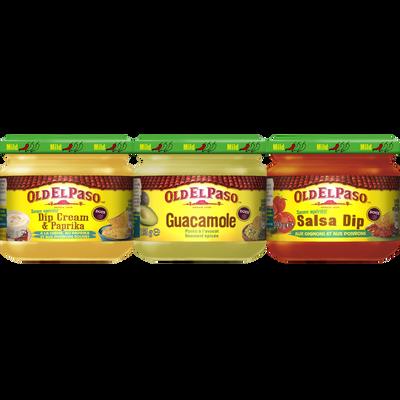 Sauces Salsa trio dip OLD EL PASO, 3 pots, 575g