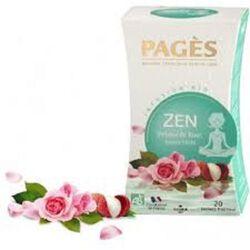 Infusion bio, Zen, Feuille d'Oranger, saveur Rose, Litchi, 20 sachets, Pagès