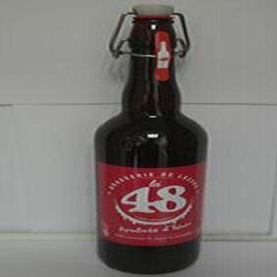 Bière ambrée d'hiver La 48 BRASSERIE DE LOZERE 5% Vol., 75cl