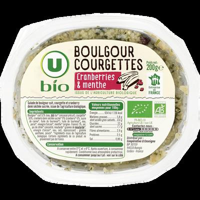 Salade boulgour courgette et menthe U BIO, 200g