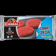 Charal Haché De Boeuf, 15% Mat.gr., Charal, 6 Pièces, 600g