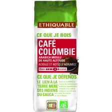 Café moulu origine Colombie BIO ETHIQUABLE, 250g
