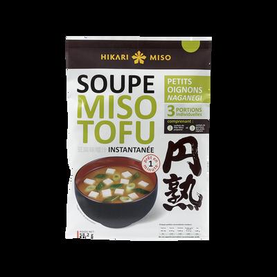 Soupe instantanée miso tofu oignons naganegi HIKARI MISO, 58g