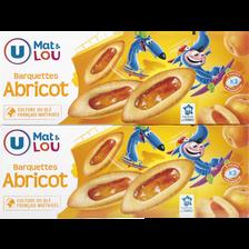 Barquette à l'abricot  MAT ET LOU U, paquet 2x120g