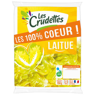 100% coeur de laitue, LES CRUDETTES, Sachet 150g