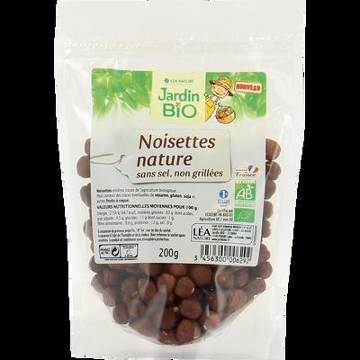 noisettes natures sachet 200 g