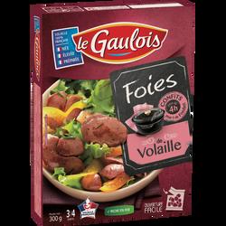 Confit de foies de volaille, LE GAULOIS, barquette,  300g