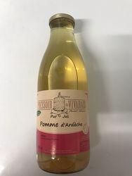 Pur jus de pomme artisanal d'Ardèche le pressoir du vivarais 1L