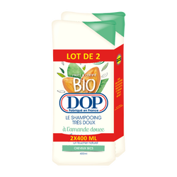 Shampooing amande douce cheveux secs bio DOP 2x400ml