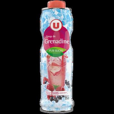 Sirop de grenadine U, bouteille de 75cl