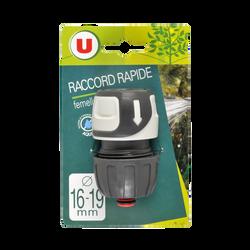 Raccord rapide femelle Aquastop U, 16/19mm, soft touch