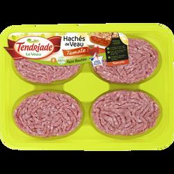 Haché de veau façon bouchère tomate, TENDRIADE, 8 pièces, barquette 800g